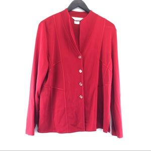Misook Button Front Knit Ribbed Cardigan Sweater